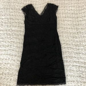 Black Sequin Cap Sleeve Dress